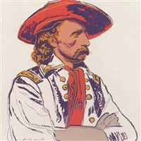 cowboys & indians: general custer [ii.379] by andy warhol